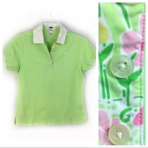 Lilly Pulitzer Women's Green Polo Shirt Top